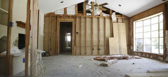 Woning in renovatie.