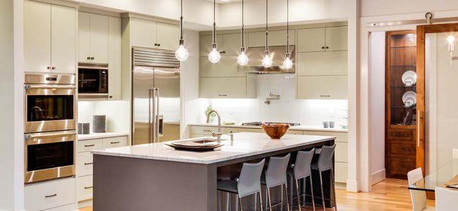 Keuken met veel licht.