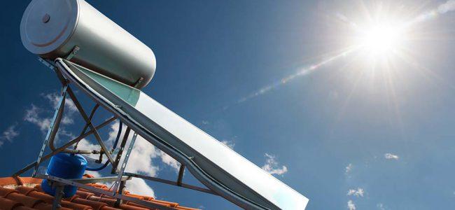 Zonneboiler op zonnepaneel