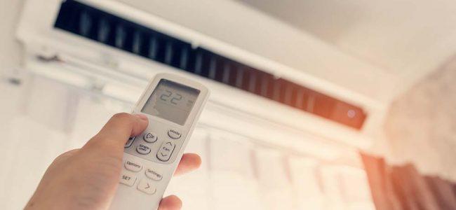 Warmtepomp met afstandsbediening.