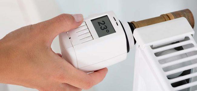 Radiator met temperatuur.