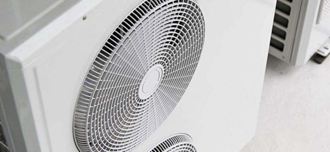 witte airco met 2 ventillators