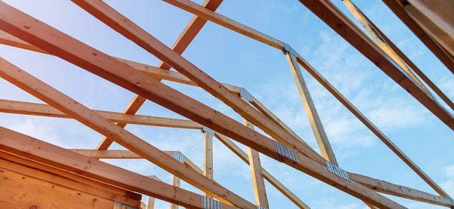 Houtskeletbouw dak
